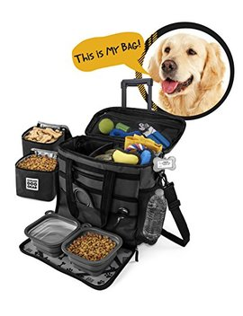 Rolling Dog Travel Bag   Week Away Tote With Wheels For Med And Large Dogs by Overland Dog Gear
