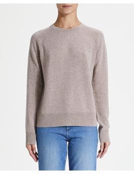 Cashmere Raglan Detail Crewneck Sweater by Theory