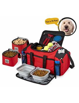Overland Dog Gear Dog Travel Bag   Ultimate Week Away Duffel For Med And Large Dogs   Includes Bag, 2 Lined Food Carriers, Placemat, And 2 Collapsible Bowls by Overland Dog Gear