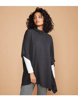 Lou & Grey Signaturesoft Funnel Neck Poncho by Loft