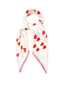 Petal Print Silk Scarf by Alexander Mc Queen