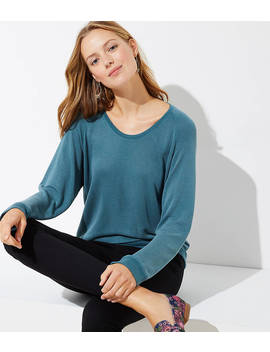 Sandwashed Dolman Sweatshirt by Loft