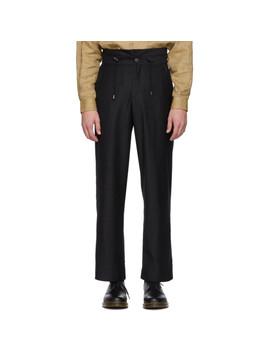 Black Hike Suit Pants by L'homme Rouge