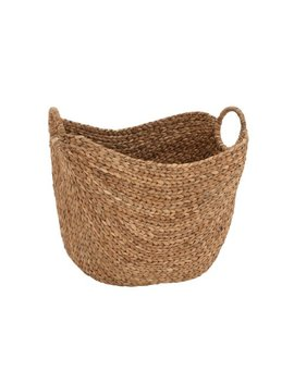 "Deco 79 Seagrass Woven Basket, 21"" X 17"" X 17"", Brown by Deco 79"