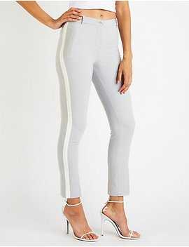 Striped Trouser Pants by Charlotte Russe