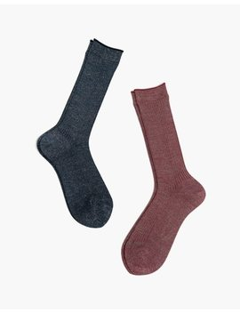 Hansel From Basel™ Two Pack Stellar Rib Crew Socks by Madewell