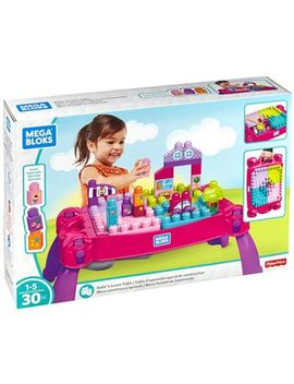 Mega Bloks   Build 'n Learn Table   Pink by Mega Bloks