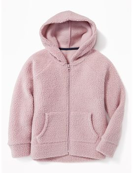 Sherpa Zip Hoodie For Girls by Old Navy