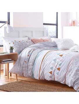 Catherine Lansfield Marble Multi Coloured Duvet Cover And Pillowcase Set by Dunelm