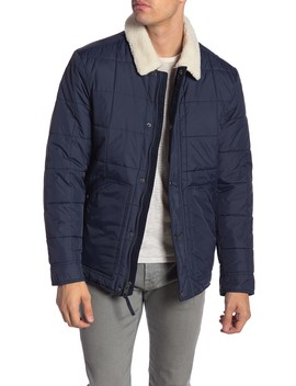 Brixton Faux Shearling Collar & Lined Quilted Jacket by Andrew Marc