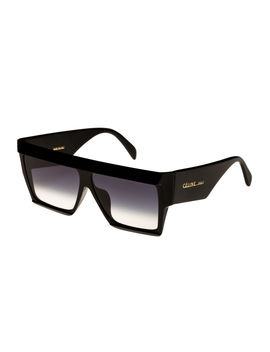 Bold Angular Acetate Sunglasses by Celine