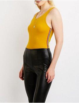 Varsity Striped Bodysuit by Charlotte Russe