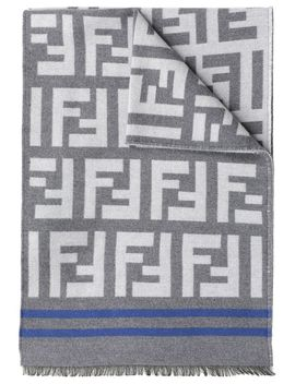 Fendi Wool And Silk Scarf by Fendi