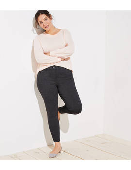 Loft Plus Leggings In Zip Pocket by Loft