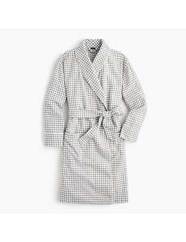 Flannel Robe In Gingham by J.Crew