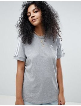 Adidas Originals   Adicolor   T Shirt à Trois Bandes   Gris by Asos Fr