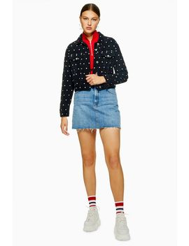 Spotted Corduroy Jacket by Topshop