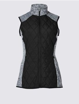 Quick Dry Quilted Gilet by Marks & Spencer