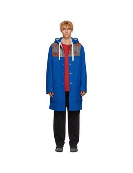 Blue Wool Duffle Coat by Acne Studios