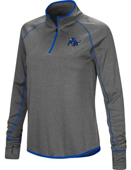 Colosseum Women's Buffalo Bulls Grey Shark Quarter Zip Shirt by Colosseum