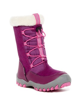 Coraline Faux Fur Trimmed Lace Boot (Little Girls & Big Girls) by M.A.P.
