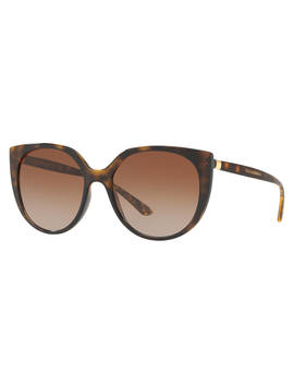 Dolce & Gabbana Dg6119 Women's Oval Sunglasses, Tortoise/Brown Gradient by Dolce & Gabbana