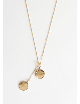 Duo Circle Charm Necklace by & Other Stories