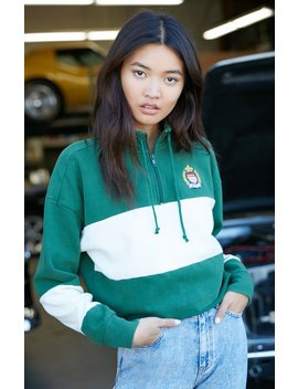 La Hearts Paneled Half Zip Sweatshirt by Pacsun