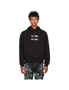Black 'no Image' Lenticular Hoodie by Doublet