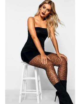 Plus 15 Denier Halloween Leopard Tights by Boohoo