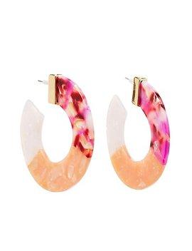 Resin Hoop Earrings by Charlotte Russe
