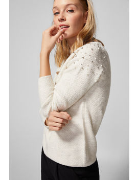 Jumper With Pearls On Shoulders by Springfield