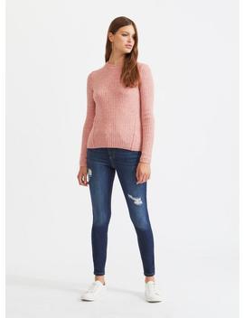 Lizzie High Waist Skinny Fit Dark Blue Jeans by Miss Selfridge