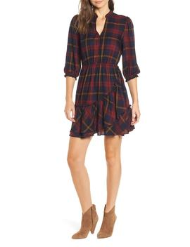Plaid Ruffle Hem Dress by Moon River