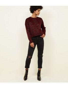 Black Ripped Knee Slim Leg Tori Mom Jeans by New Look