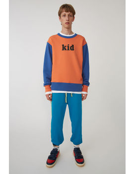 Colourblocked Sweatshirt Orange/Blue by Acne Studios