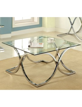 Silver Orchid Brockwell Modern Chrome Coffee Table by Silver Orchid