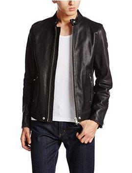 Diesel L Roshi 900 Herren Leather Jacket Schwarz by Amazon