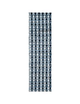 Montauk Ivory Blue/Black 2 Ft. X 6 Ft. Runner Rug by Safavieh