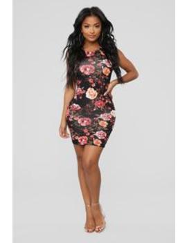 Explore More Tank Dress   Black Floral by Fashion Nova