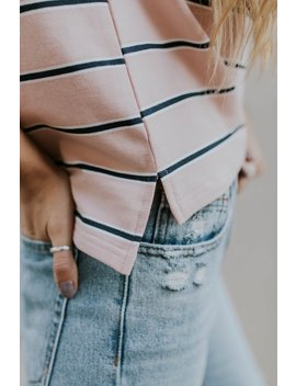 Jennifer Stripe Top by Roolee