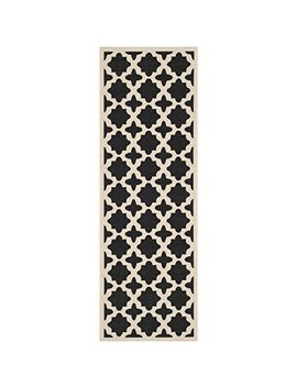 "Safavieh Courtyard Collection Cy6913 266 Black And Beige Indoor/ Outdoor Runner (2'3"" X 6'7"") by Safavieh"
