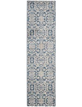 "Safavieh Sofia Collection Sof381 C Vintage Blue And Beige Distressed Runner (2'2"" X 6') by Safavieh"