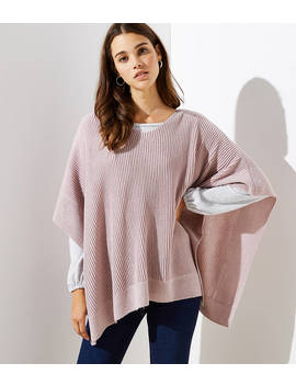 Ribbed Poncho by Loft