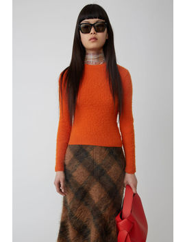 Shrunken Fit Sweatshirt Orange by Acne Studios