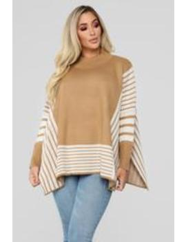 Not The Only One Sweater   Camel by Fashion Nova