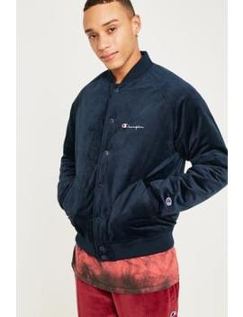 Champion Black Velour Bomber Jacket by Champion