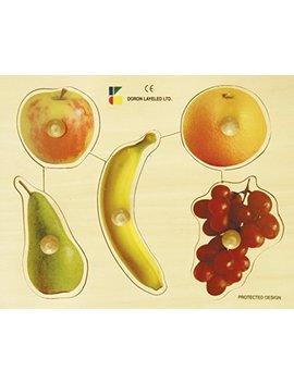 Edushape Large Knob Fruits Puzzle, 5 Piece by Edushape