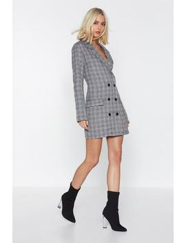 Check Blazer Dress by Nasty Gal