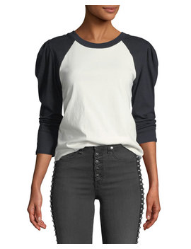 Josey Long Sleeve Raglan Baseball Tee by Veronica Beard